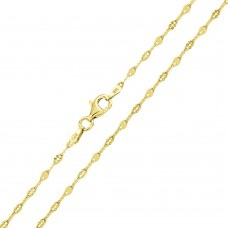 Wholesale Sterling Silver 925 Gold Plated Alternating DC Coffee Daisy Chain 2.1mm - CH369 GP