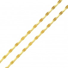 Wholesale Sterling Silver 925 Gold Plated DC Edge Confetti Chain 2.6mm - CH367 GP