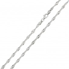Wholesale Sterling Silver 925 Rhodium Plated Star Diamond Cut Confetti 030 Chain 2.3mm - CH121 RH