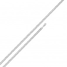 Wholesale Sterling Silver 925 Super Flat High Polished Curb 080 Chain 3.2mm - CH615