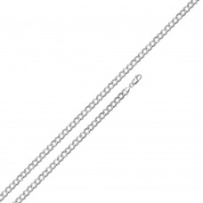 Wholesale Sterling Silver 925 Super Flat High Polished Curb 100 Chain 3.9mm - CH616
