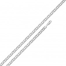 Wholesale Sterling Silver 925 Super Flat High Polished Curb 120 Chain and Bracelet 4.5mm - CH617