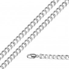 Wholesale Sterling Silver 925 Super Flat High Polished Curb 180 Chain 6.8mm - CH619