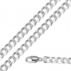 Wholesale Sterling Silver 925 Super Flat High Polished Curb 250 Chain 10mm - CH621
