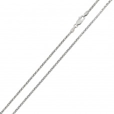 Wholesale Sterling Silver 925 Rhodium Plated DC Flat Multi Disc Coreana 014 Chain 1.4mm - CH400 RH
