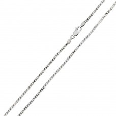 Wholesale Sterling Silver 925 Rhodium Plated DC Flat Multi Disc Coreana 016 Chain 1.5mm - CH401 RH
