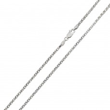 Wholesale Sterling Silver 925 Rhodium Plated DC Flat Multi Disc Coreana 018 Chain 1.6mm - CH402 RH
