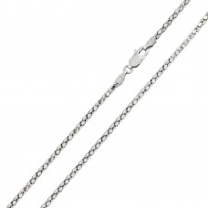 Wholesale Sterling Silver 925 Rhodium Plated DC Flat Multi Disc Coreana 020 Chain 2mm - CH403 RH