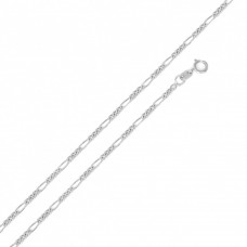 Wholesale Sterling Silver 925 Super Flat Figaro 035 Chain 1.3mm - CH601