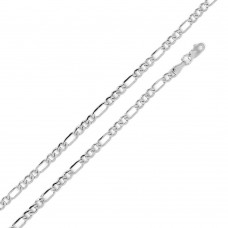 Wholesale Sterling Silver 925 Super Flat Figaro 100 Chain 4mm - CH605