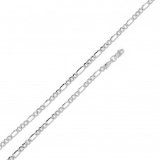 Wholesale Sterling Silver 925 Super Flat Figaro 060 Chain 2.1mm - CH603