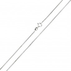 Wholesale Sterling Silver 925 Rhodium Plated Shinny Greek Link Box 015 Chains 0.8mm - CH205 RH