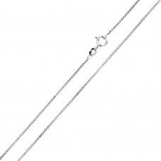 Wholesale Sterling Silver 925 Rhodium Plated Shinny Greek Link Box 019 Chains 0.9mm - CH206 RH