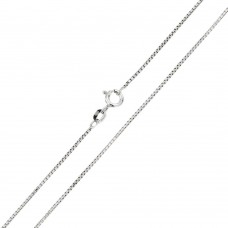 Wholesale Sterling Silver 925 Rhodium Plated Shinny Greek Link Box 022 Chains 1mm - CH207 RH