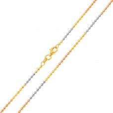 Wholesale Sterling Silver 925 Tri Color Plated Diamond Cut Jianzhi 025 Chain 2.4mm - CH268 MUL