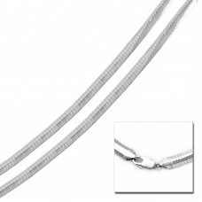 Wholesale Sterling Silver 925 High Polished Flat Omega Chain 5mm - CH804