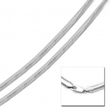 Wholesale Sterling Silver 925 High Polished Flat Omega Chain 6mm - CH805