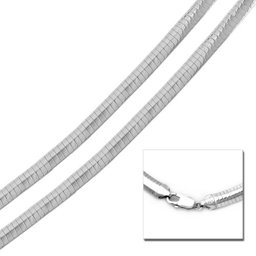 Wholesale Sterling Silver 925 High Polished Flat Omega Chain 8mm - CH806