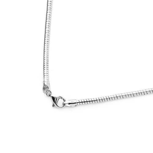 Wholesale Sterling Silver 925 High Polished Round Omega Chains 1mm - CH807