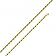 Wholesale Sterling Silver 925 Gold Plated Franco Chain 1.3mm - CH337 GP