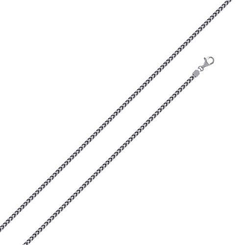 Wholesale Sterling Silver 925 Rhodium Plated Franco 130 Chain 1.3mm - CH318 RH
