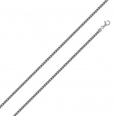 Wholesale Sterling Silver 925 Rhodium Plated Franco 180 Chain 1.8mm - CH319 RH