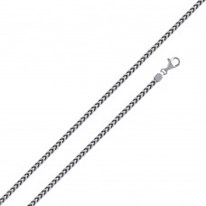 Wholesale Sterling Silver 925 Rhodium Plated Franco 230 Chain 2.3mm - CH320 RH