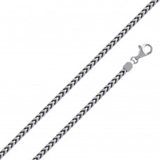 Wholesale Sterling Silver 925 Rhodium Plated Franco 370 Chain 3.7mm - CH322 RH
