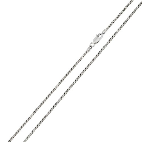Wholesale Sterling Silver 925 Rhodium Plated Round Box 030 Chain 1.6mm - CH215 RH