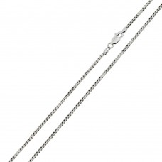 Wholesale Sterling Silver 925 Rhodium Plated Round Box 035 Chain 1.7mm - CH216 RH
