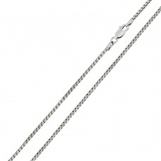 Wholesale Sterling Silver 925 Rhodium Plated Round Box 040 Chain 2mm - CH217 RH