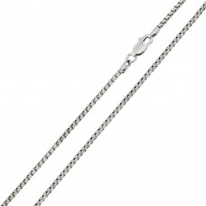Wholesale Sterling Silver 925 Rhodium Plated Round Box 050 Chain 2.6mm - CH218 RH