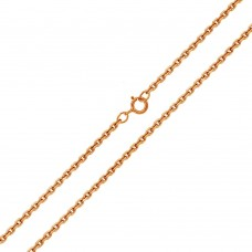 Wholesale Sterling Silver 925 Rose Gold Plated Diamond Cut Cable Rolo 020 Chains 0.9mm - CH153 RGP