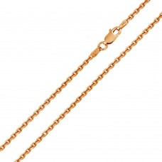 Wholesale Sterling Silver 925 Rose Gold Plated Diamond Cut Cable Rolo 050 Chains 1.6mm - CH155 RGP
