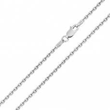 Wholesale Sterling Silver 925 Diamond Cut Cable Rolo 050 Chains 1.7mm - CH710