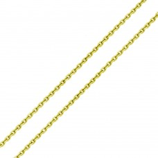 Wholesale Sterling Silver 925 Gold Plated Diamond Cut Cable Rolo Chains 1mm - CH333 GP
