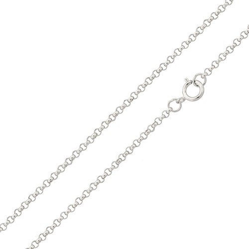 Wholesale Sterling Silver 925 Rhodium Plated Rolo 020 Chain 1.35mm - CH230 RH