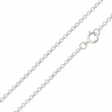 Wholesale Sterling Silver 925 Rhodium Plated Rolo 030 Chain 2.1mm - CH231 RH