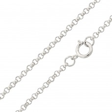 Wholesale Sterling Silver 925 High Polished Round Rolo 040 Chain 2.6mm - CH705
