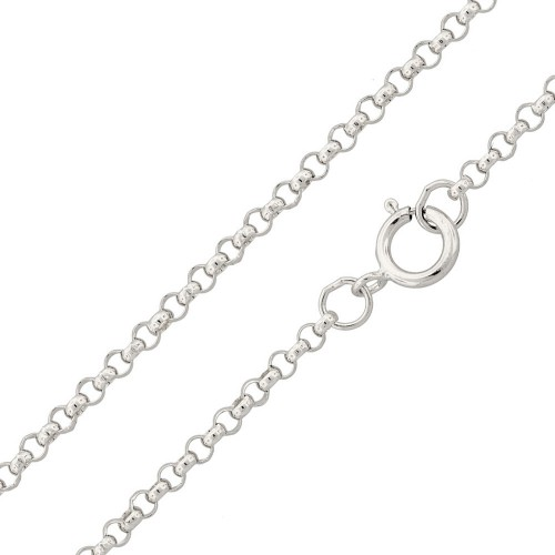 Wholesale Sterling Silver 925 Rhodium Plated Rolo 035 Chain 2.6mm - CH232 RH