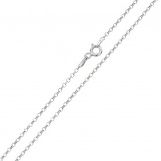 Wholesale Sterling Silver 925 Rhodium Plated Rolo Flat DC 020 Chain 1.3mm - CH227 RH