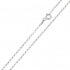 Wholesale Sterling Silver 925 Rhodium Plated Rolo Flat DC 030 Chain 2mm - CH228 RH