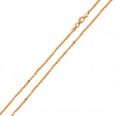 Wholesale Sterling 925 Silver Rose Gold Plated Diamond Cut Edge Rolo 050 Chains 1.7mm - CH163 RGP