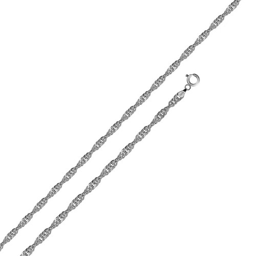 Wholesale Sterling Silver 925 Rhodium Plated Singapore 020 Chain 1.2mm - CH139 RH