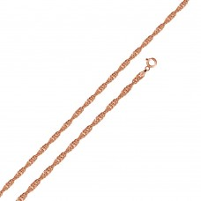 Wholesale Sterling Silver 925 Rose Gold Plated Singapore 020 Chain 1.2mm - CH166 RGP