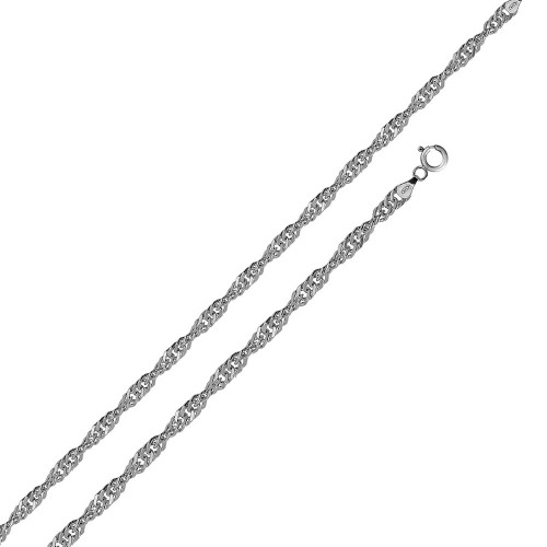 Wholesale Sterling Silver 925 Rhodium Plated Singapore 025 Chain 1.5mm - CH140 RH