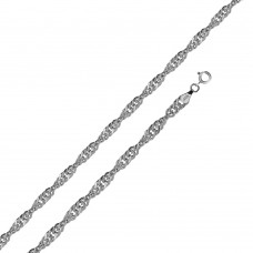 Wholesale Sterling Silver 925 High Polished Singapore 040 Chain 2.4mm - CH518