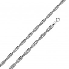 Wholesale Sterling Silver 925 High Polished Singapore 050 Chain 2.8mm - CH519