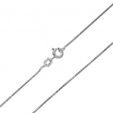 Wholesale Sterling Silver 925 Rhodium Plated Snake Round DC 020 Chain 0.8mm - CH142 RH