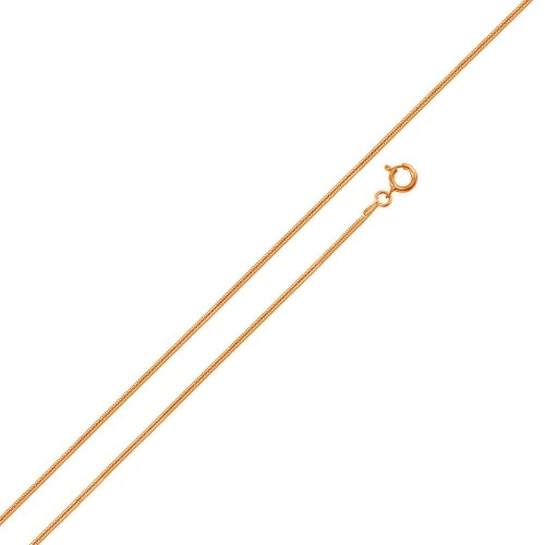 Wholesale Sterling Silver 925 Rose Gold Plated Round Snake 010 Chains 0.6mm - CH159 RGP